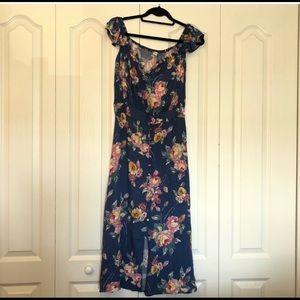 Off the shoulder maxi floral dress